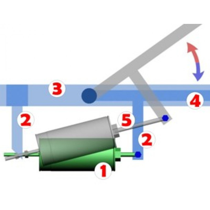 Гидроцилиндр для теплицы для форточек